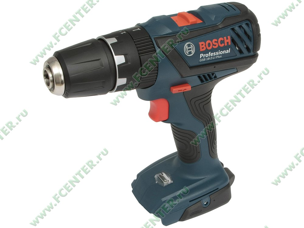 """Дрель-шуруповёрт Bosch """"GSB 18-2-LI Plus Professional"""". Вид спереди."""