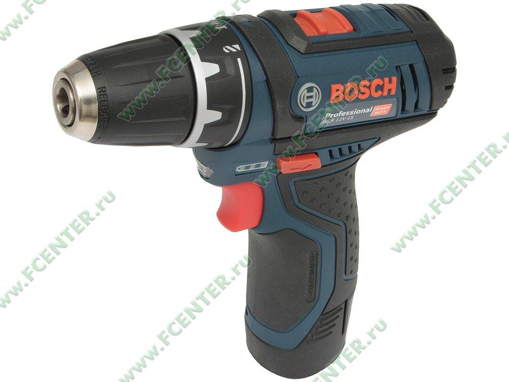 "Дрель-шуруповёрт Bosch ""GSR 12V-15 Professional"". Вид спереди."