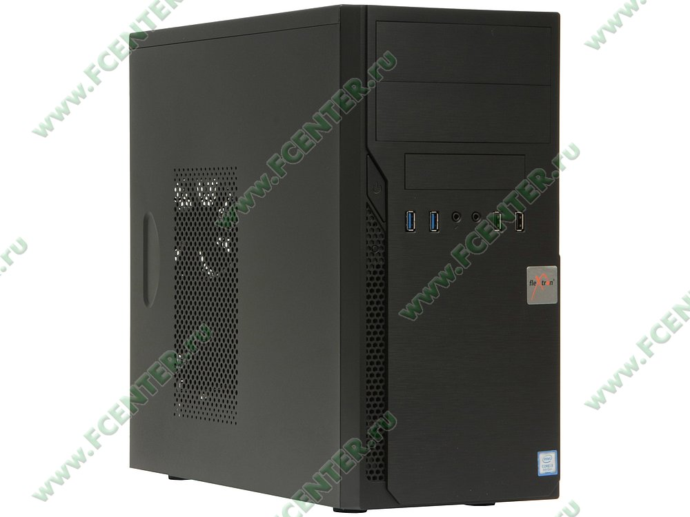 "Компьютер FLEXTRON ""Integro S""  (908681). Вид спереди."