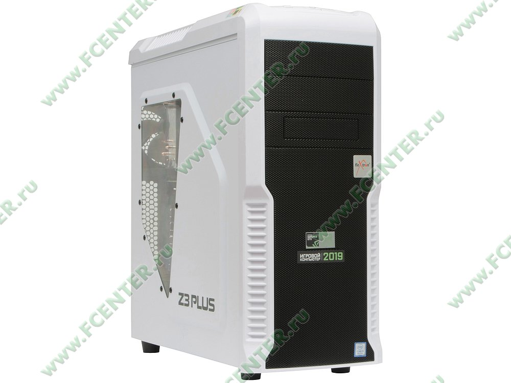"Компьютер FLEXTRON ""Quattro""  (909641). Вид спереди."