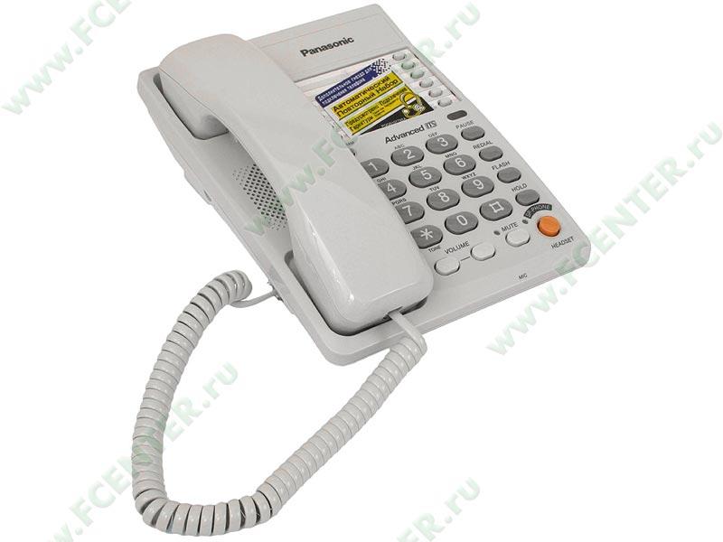 """Телефон Panasonic """"KX-TS2363"""". Вид спереди."""
