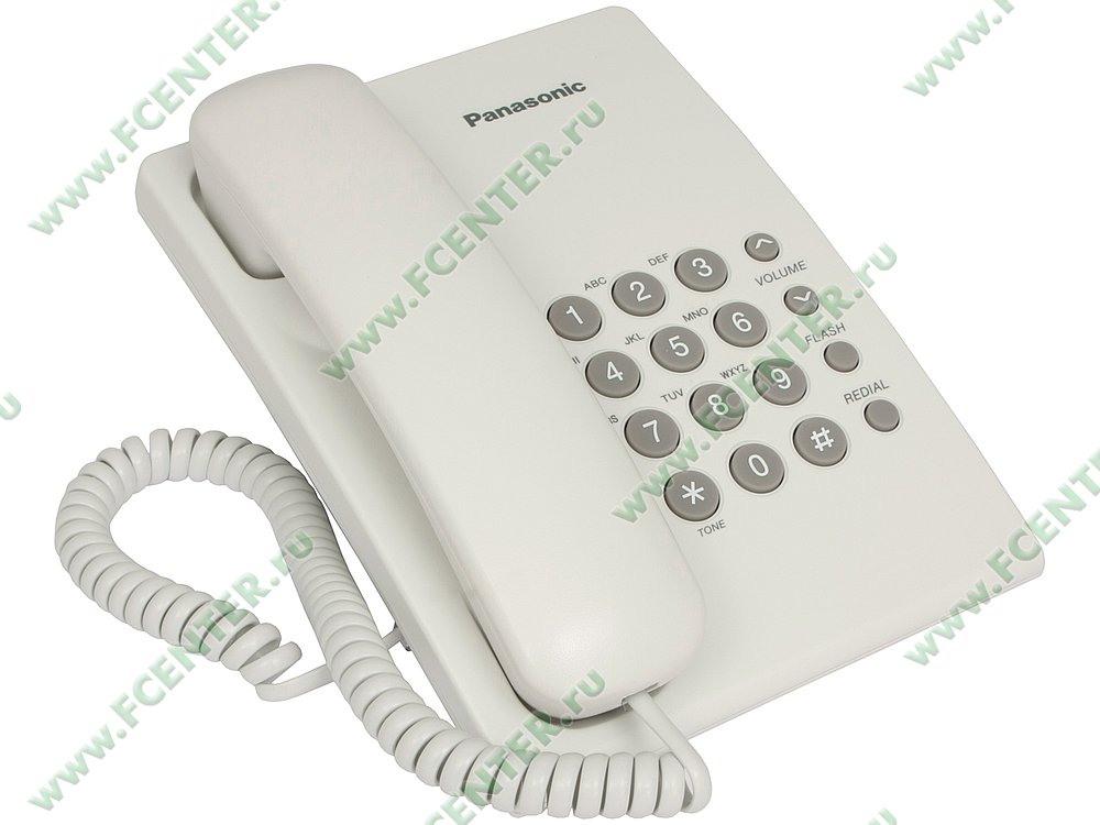 "Телефон Телефон Panasonic ""KX-TS2350"". Вид спереди."