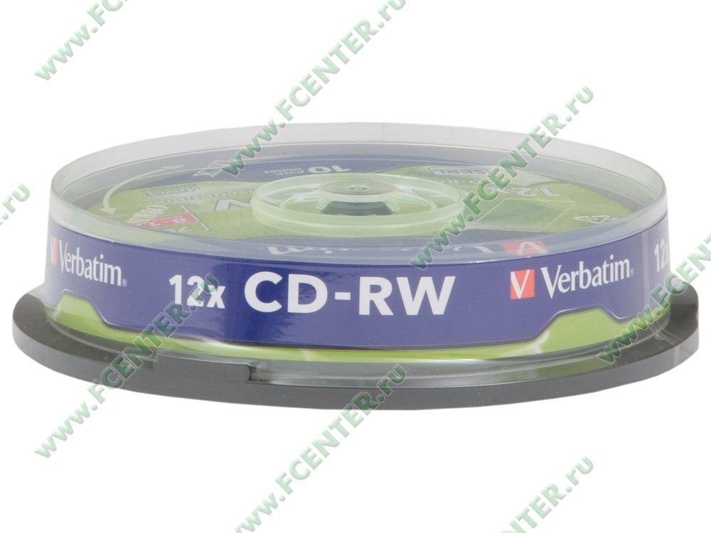 "Диск CD-RW 700МБ 8x-12x Verbatim ""43480"" (10шт./уп.). Коробка 1."