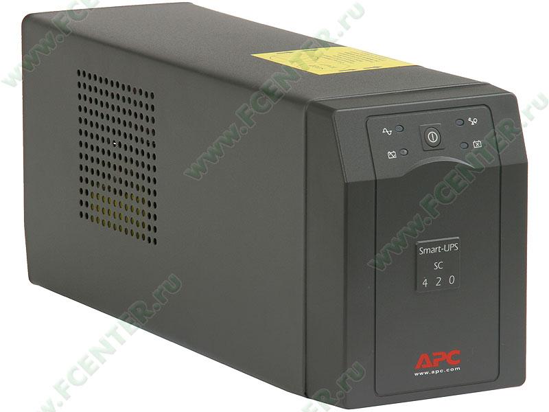 """Источник бесперебойного питания ИБП 420ВА APC """"Smart-UPS SC 420"""" (COM). Вид спереди."""