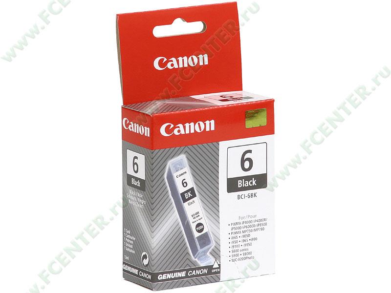 "Картридж Canon ""BCI-6BK"" (черный). Коробка."