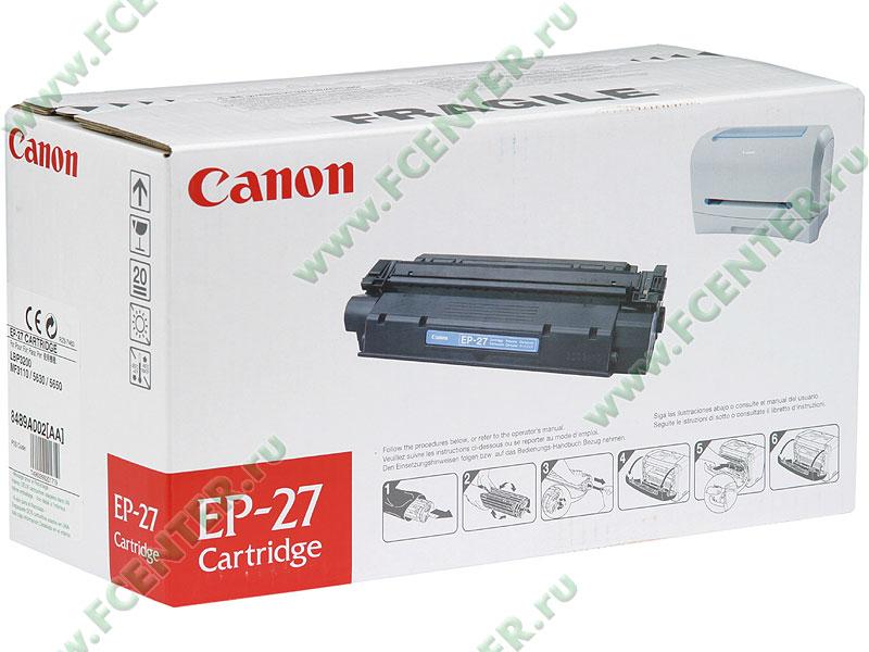 "Картридж Canon ""EP-27"" (черный). Коробка."