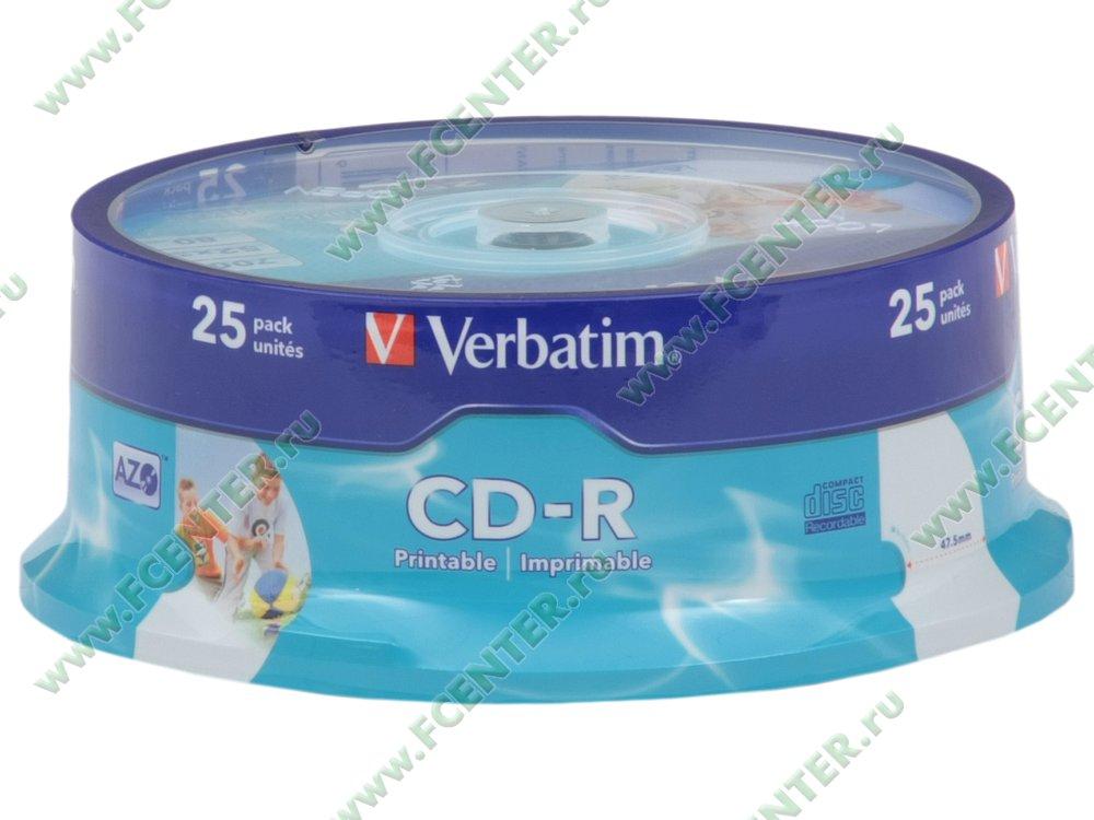 """Диск CD-R 700МБ 52x Verbatim """"43439"""" (25шт./уп.). Коробка 1."""