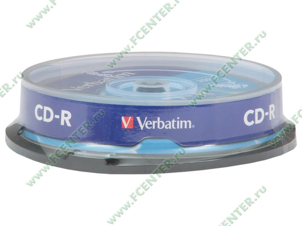 """Диск CD-R 700МБ 52x Verbatim """"43437"""" (10шт./уп.). Коробка 1."""