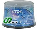 Диск DVD-R 4.7ГБ 16x TDK (50шт./уп.)