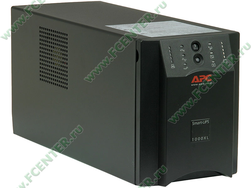 """Источник бесперебойного питания 1000ВА APC """"Smart-UPS 1000"""" (COM, USB). Вид спереди."""