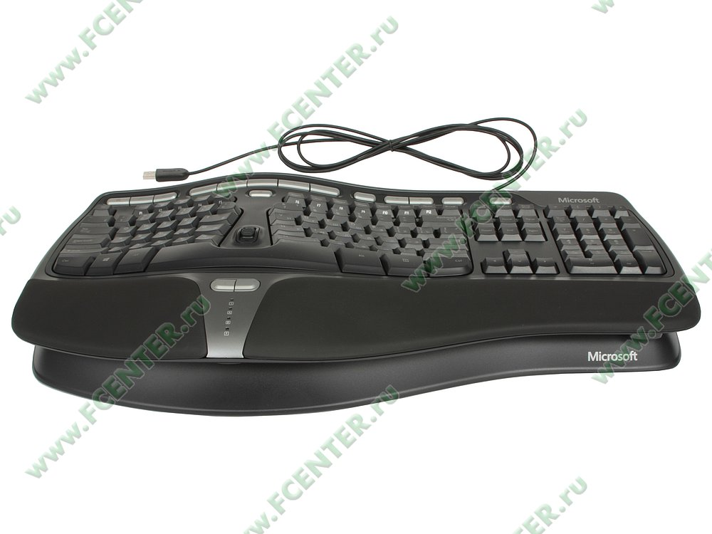 "Клавиатура Microsoft ""Natural Ergonomic 4000"" (USB). Вид спереди 1."