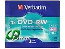 """Диск DVD-RW 4.7ГБ 4x Verbatim """"43635"""" (3шт./уп.)"""