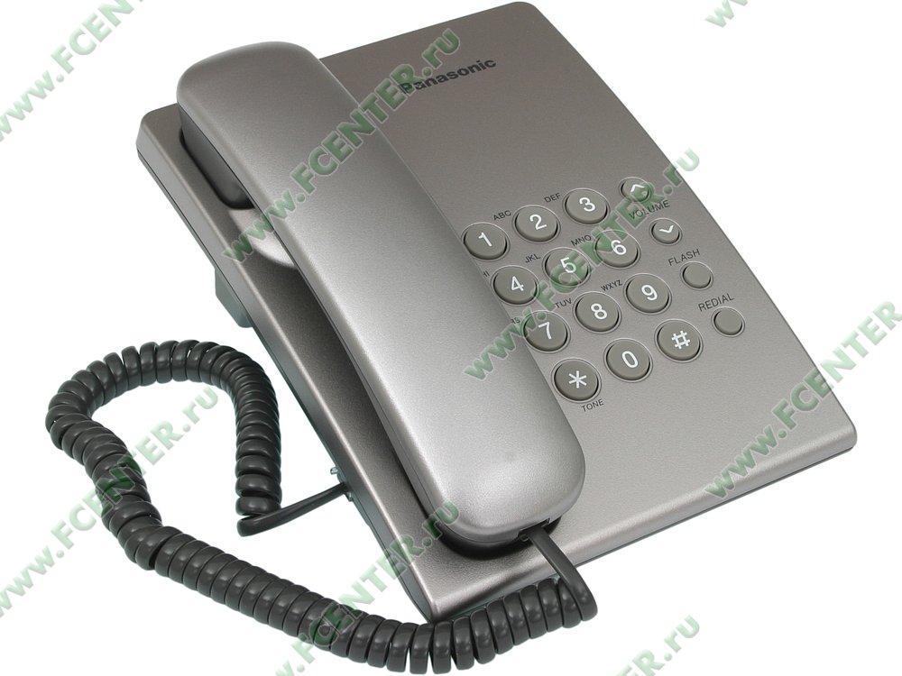 """Телефон Panasonic """"KX-TS2350"""". Вид спереди."""
