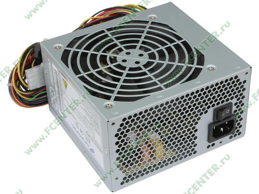 "Блок питания 400Вт FSP ""ATX-400PNR"" ATX12V V2.0. Вид спереди."