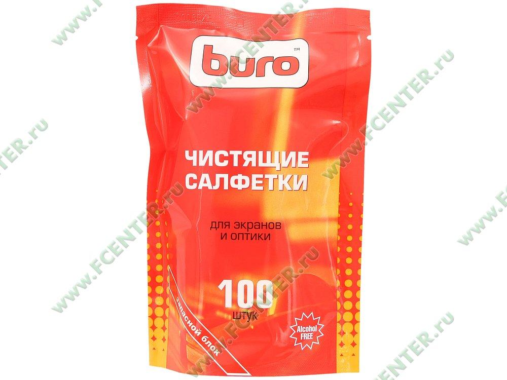 "Чистящее средство салфетки Buro ""BU-Zscreen"" (100шт./уп.). Коробка."