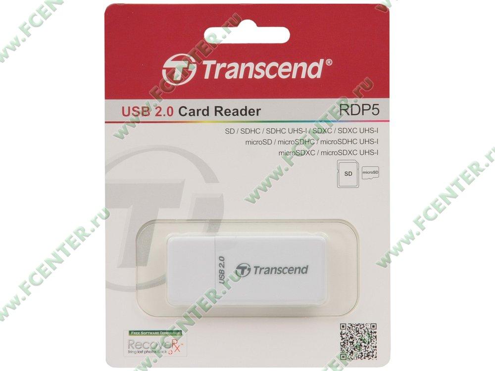 """Картридер Transcend """"TS-RDP5W"""" (USB2.0). Коробка."""