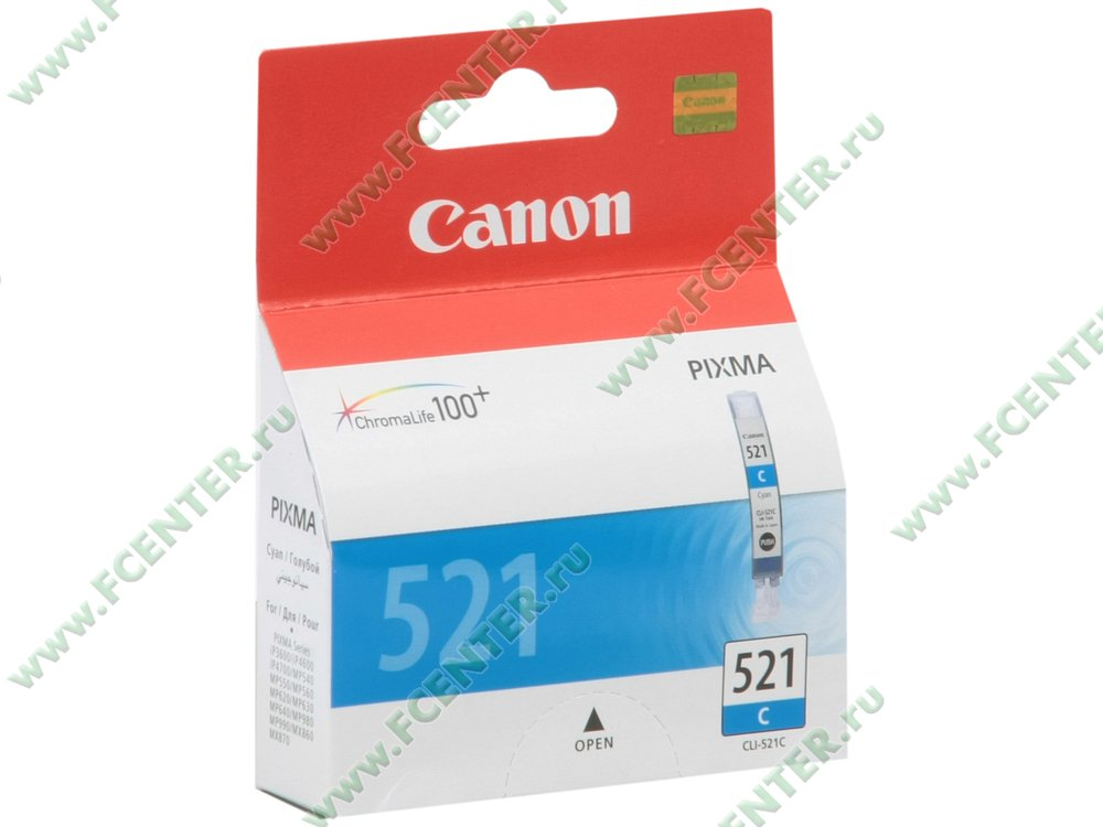 "Картридж Canon ""CLI-521C"" (голубой). Коробка."