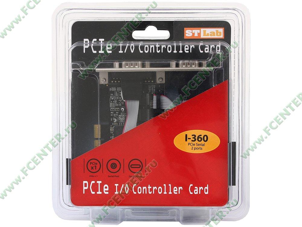 """Контроллер COM STLab """"I-360"""" (PCI-E x1). Коробка."""