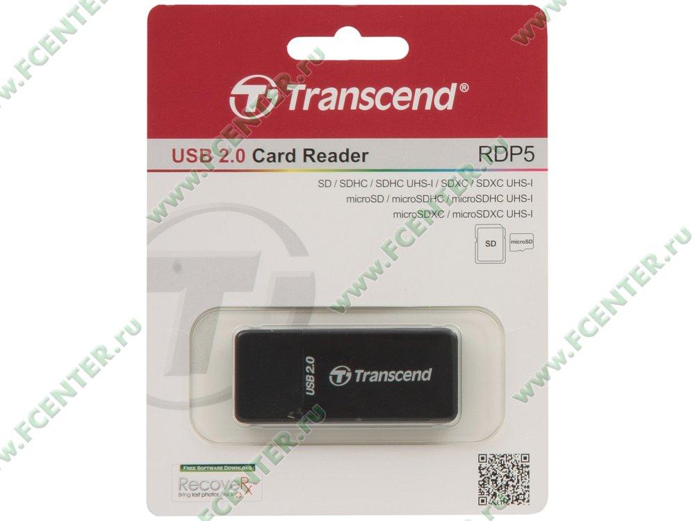 "Картридер Transcend ""TS-RDP5K"" (USB2.0). Коробка."