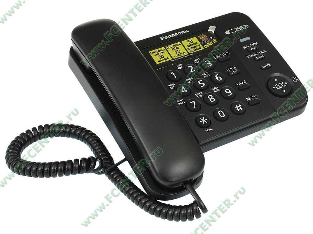 """Телефон Panasonic """"KX-TS2356"""". Вид спереди."""
