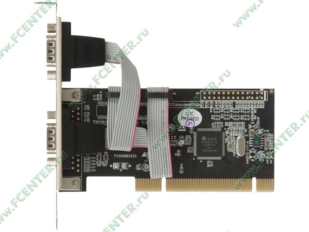"""Контроллер COM STLab """"I-390"""" (PCI). Вид сверху."""