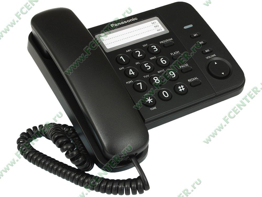 """Телефон Panasonic """"KX-TS2352RUB"""". Вид спереди."""