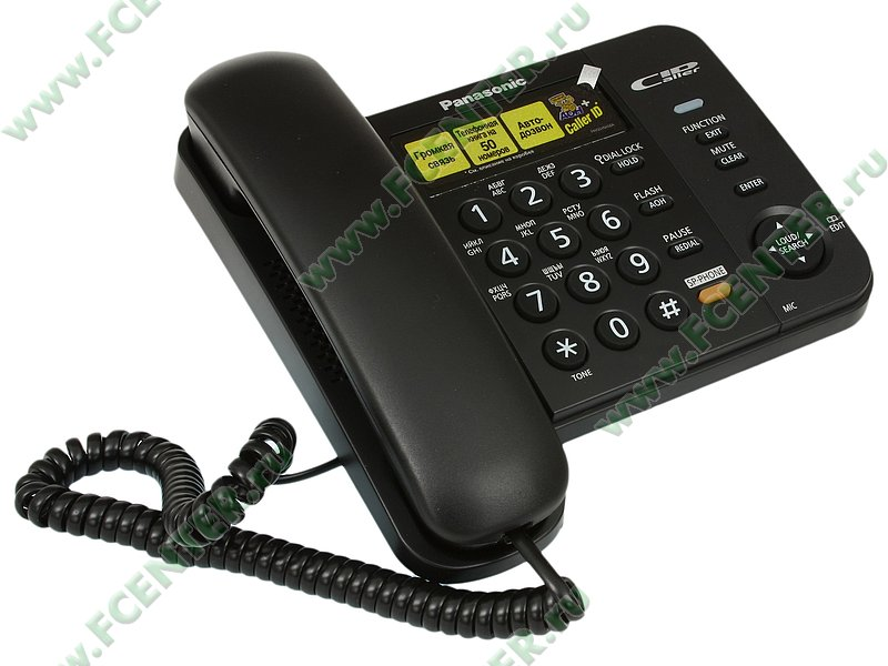 """Телефон Panasonic """"KX-TS2358"""". Вид спереди."""