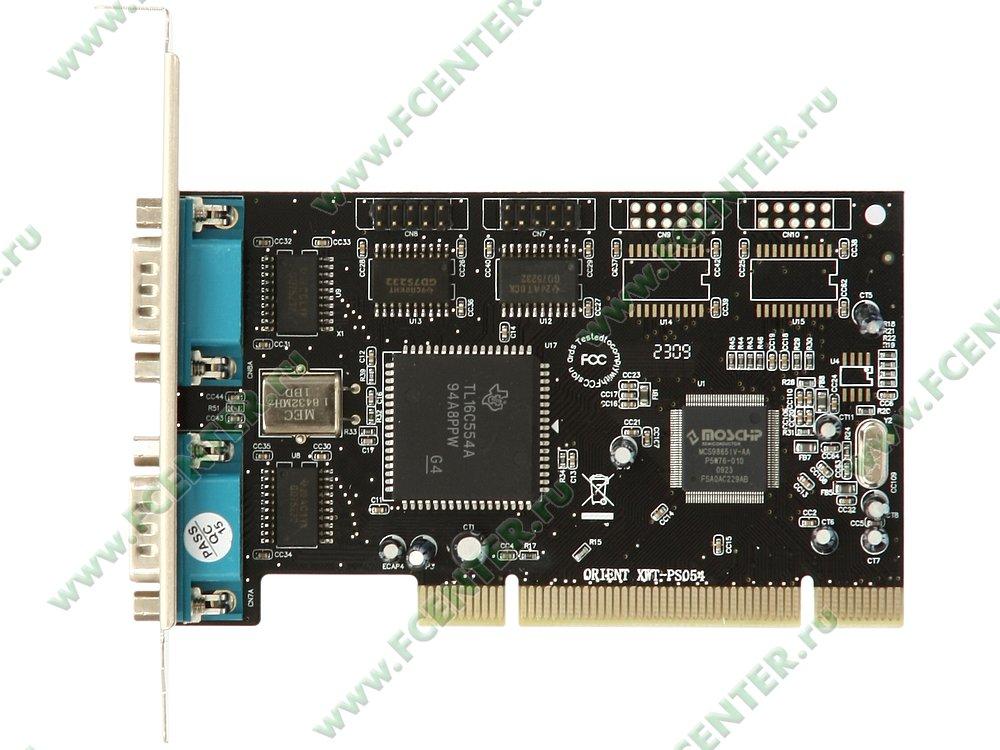 """Контроллер COM ORIENT """"XWT-PS054"""" (PCI). Вид сверху."""
