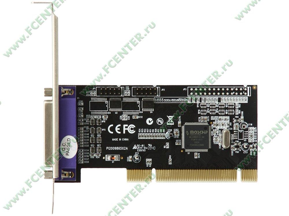 """Контроллер LPT + COM STLab """"I-420"""" (PCI). Вид сверху."""