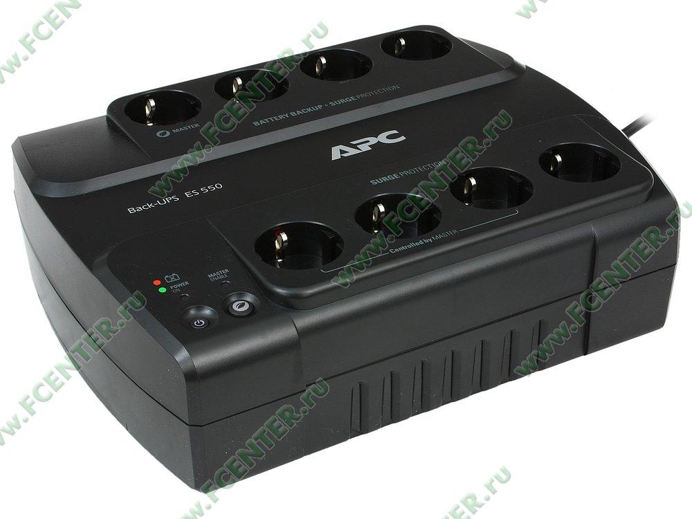 """Источник бесперебойного питания 550ВА APC """"Back-UPS ES 550"""" (USB). Вид спереди."""