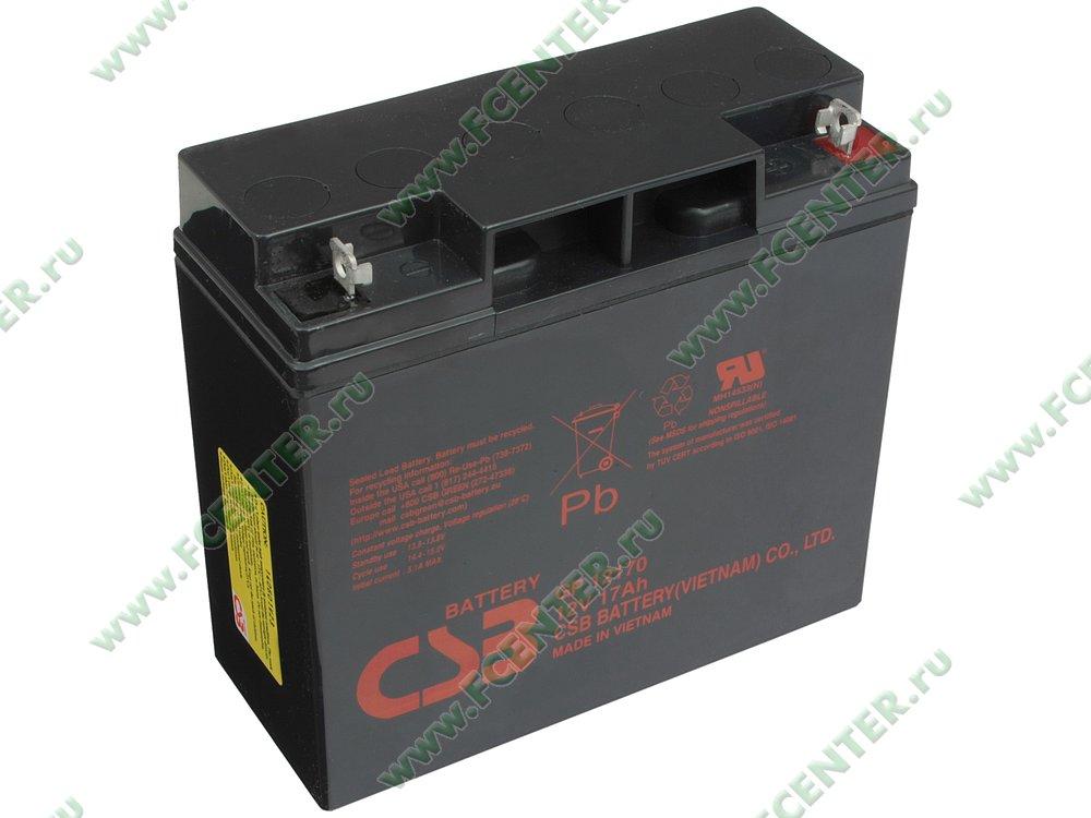 "Батарея аккумуляторная CSB ""GP 12170"" 12В 17.0А*ч. Вид спереди."