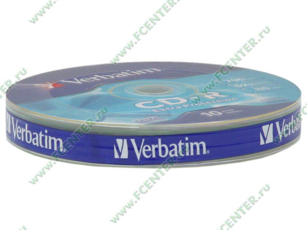 """Диск CD-R 700МБ 52x Verbatim """"43725"""" (10шт./уп.). Коробка 1."""