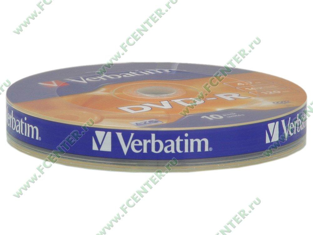 """Диск DVD-R 4.7ГБ 16x Verbatim """"43729"""" (10шт./уп.). Коробка 1."""