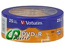 """Диск DVD-R 4.7ГБ 16x Verbatim """"43730"""" (25шт./уп.)"""