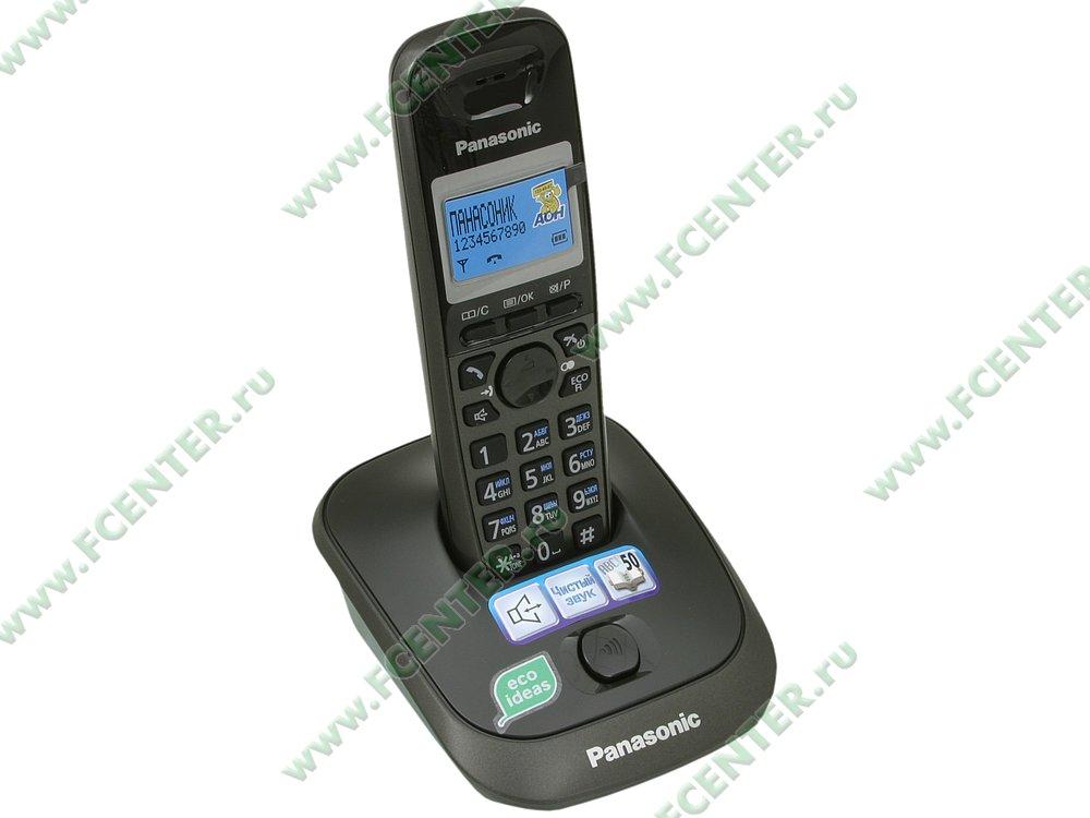 """Радиотелефон Panasonic """"KX-TG2511RUT"""". Вид спереди."""