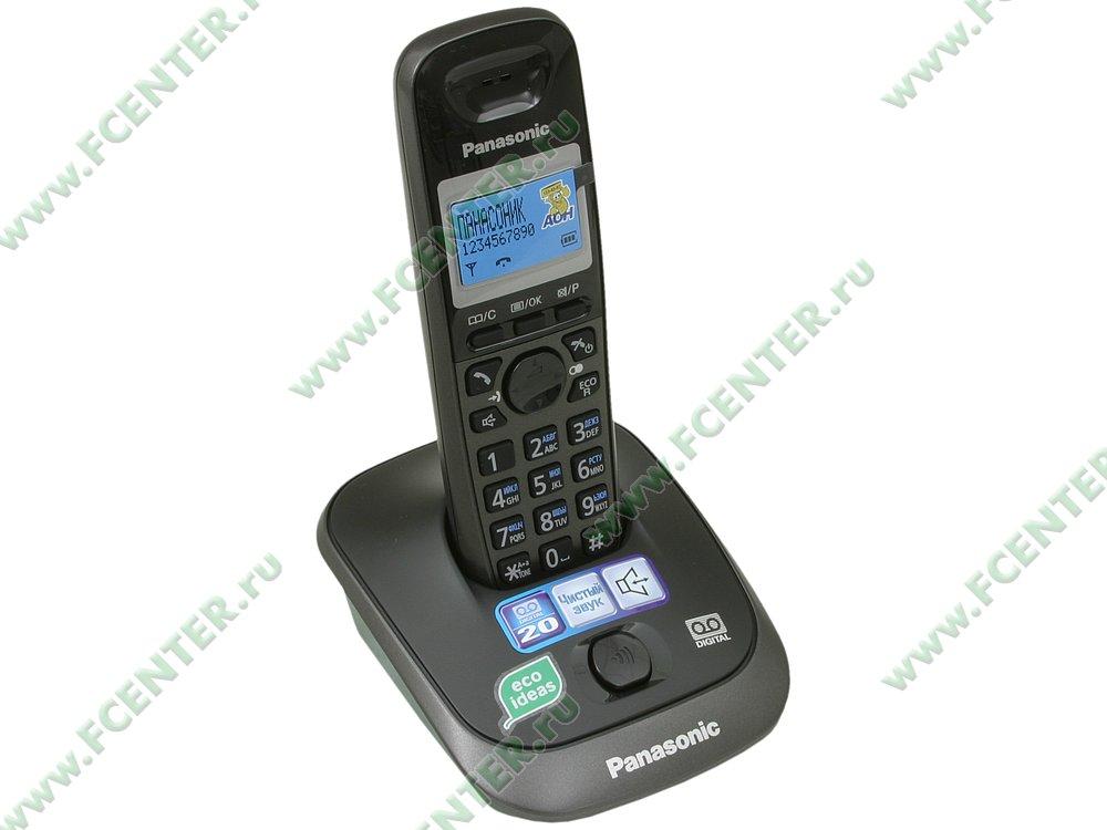 """Радиотелефон Panasonic """"KX-TG2521RUT"""". Вид спереди."""