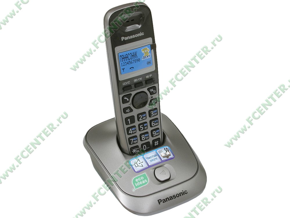 "Радиотелефон Panasonic ""KX-TG2511RUM"". Вид спереди."