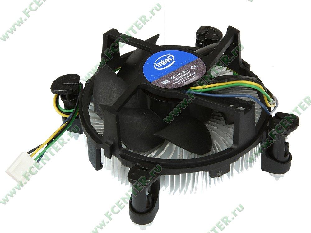 Кулер для процессора Intel. Вид спереди.