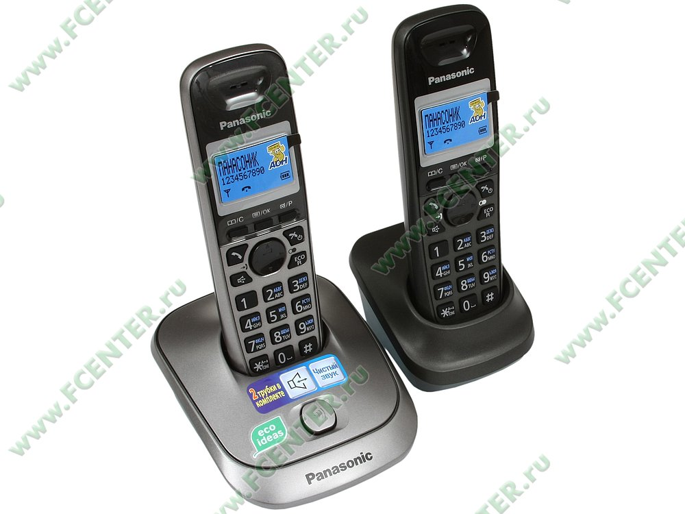 "Радиотелефон Panasonic ""KX-TG2512RU1"". Вид спереди."