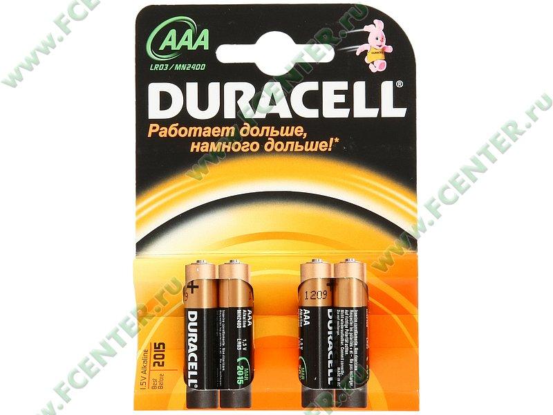 "Батарейка Батарейка Duracell ""LR03/MN2400"". Коробка."