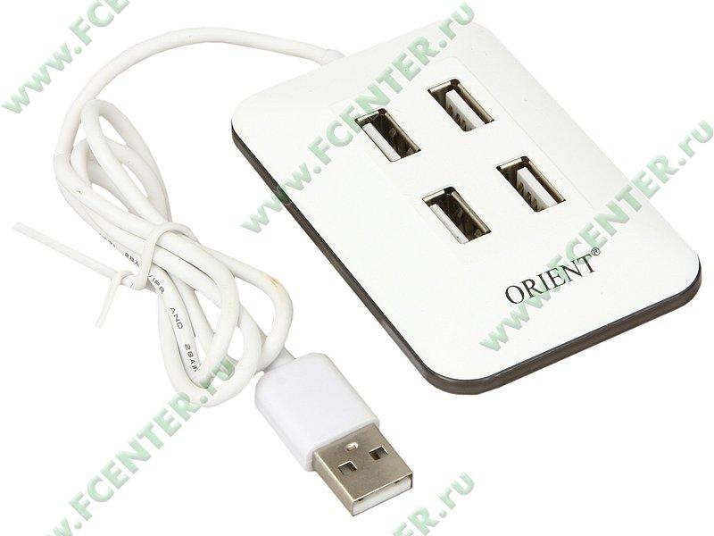 "Разветвитель USB2.0 ORIENT ""MI-430"". Вид спереди."