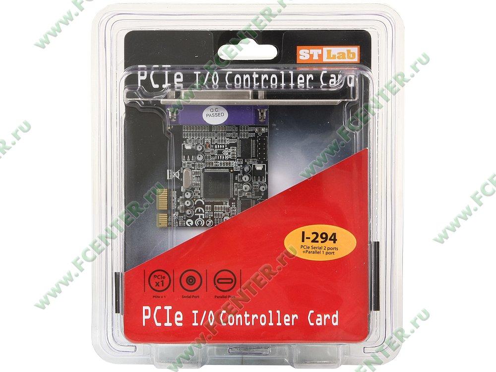 """Контроллер LPT + COM STLab """"I-294"""" (PCI-E x1). Коробка."""