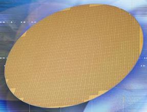 90 нм пластина с DDR2 чипами