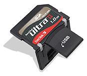 Тоже с открытым разъемом USB.