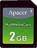 MultiMediaCard емкостью 2 ГБ от Apacer