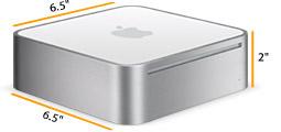 Apple Mac mini: ПК со стороной 16.5 см и высотой 5 см