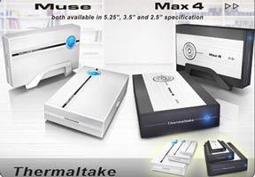 Muse&Max4. Две новых линейки HDD-контейнеров Thermaltake