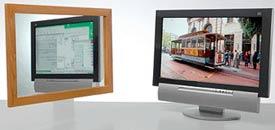 Два в одном: на одном экране две картинки (зеркало слева)