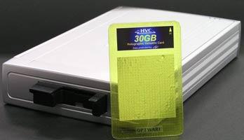 Прототип голографического картридера и 30-ГБ карточки к нему