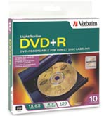Коробка DVD-дисков Verbatim LightScribe